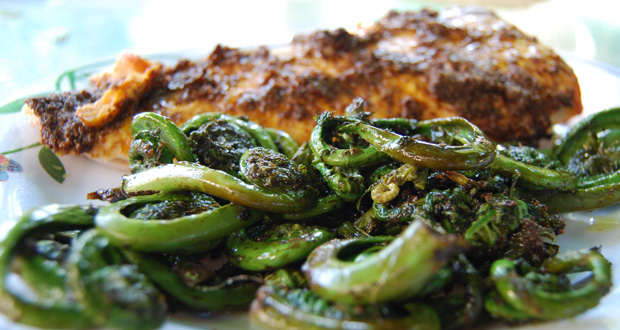 recipe-indian-fish-with-roasted-fiddleheads