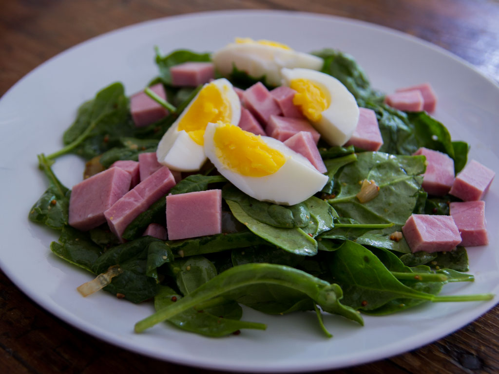 spinach-egg-and-ham-salad