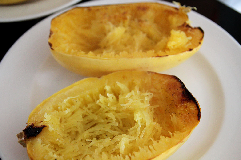 Low Carb Layered Mexican Spaghetti Squash - not too sweet