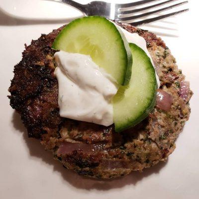 high protein greek burgers