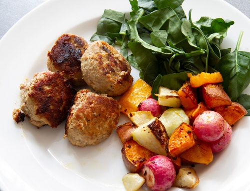 High Protein Feta Meatballs